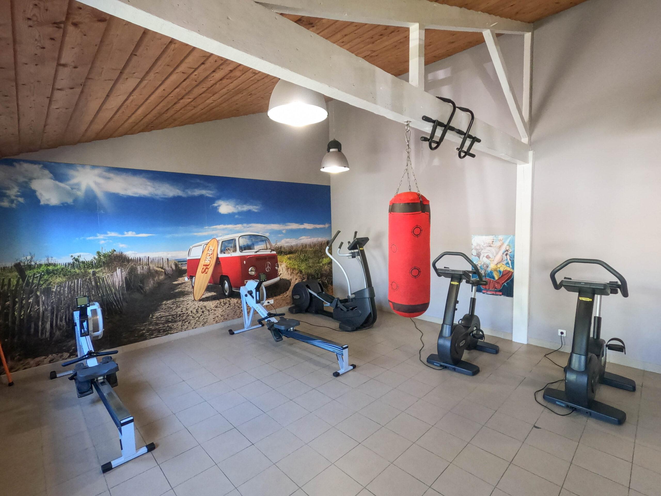 camping 5 étoiles saint jean de monts salle fitness vélo boxe Le Tropicana